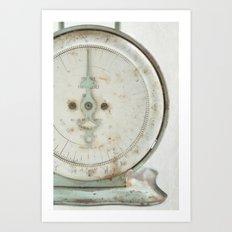 Vintage Scale Art Print