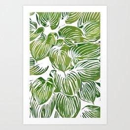 Wild Leaves #nature #painting Art Print