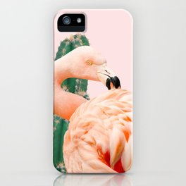 Flamingo & Cactus #society6 #decor #buyart iPhone Case
