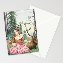 The Queen of the forest Stationery Cards