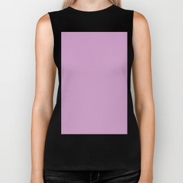 orchid color coordinate solid Biker Tank