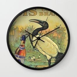 Vintage Ibis Cognac Brandy Alcoholic Beverage Advertising Poster Wall Clock