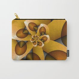 Rising, Modern Fractal Art Spiral Carry-All Pouch
