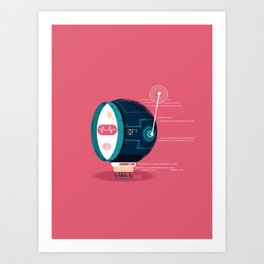 :::Mini Robot-Fos::: Art Print