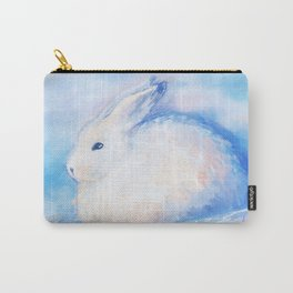 Snow Rabbit Carry-All Pouch