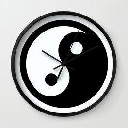 oriental ying yang Wall Clock