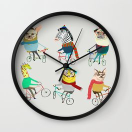 Bikers. Wall Clock