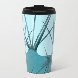 Teal Cactus Close-up Design Travel Mug