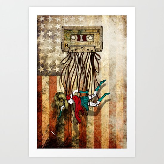 Where love went to die or american woman Art Print