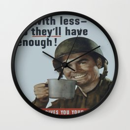 Vintage poster - Rationing Wall Clock