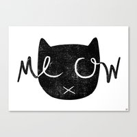 meow Canvas Prints featuring Meow by Laura O'Connor
