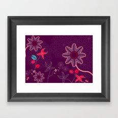 jungle delights deep velvet art print Framed Art Print