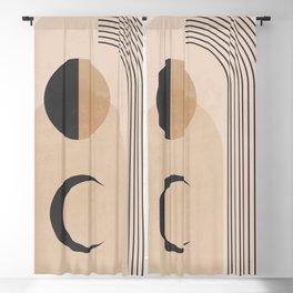 Minimal Geometric Shapes 120 Blackout Curtain