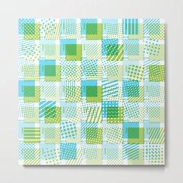 Halftone Moiré - Blue & Green Metal Print