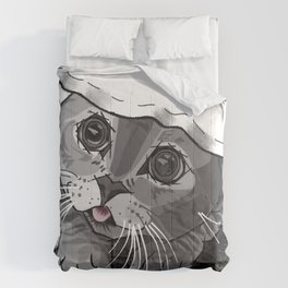 The Curious Cat 02 Comforters