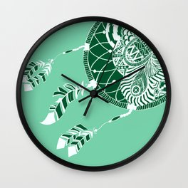 Mint Dreamcatcher Wall Clock
