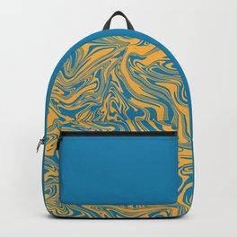Liquid Swirl - Hawaiian Surf Blue and Citrus Yellow Backpack