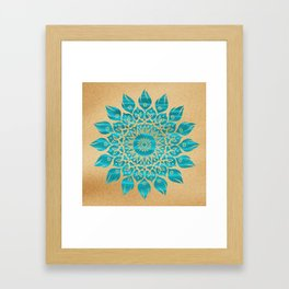 Summer Mandala Framed Art Print