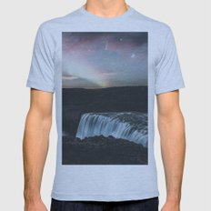 Dettifoss, Iceland II Mens Fitted Tee MEDIUM Tri-Blue