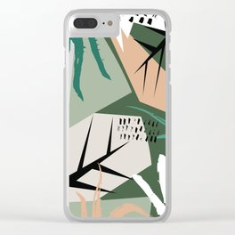 Abstract /Botanical Clear iPhone Case