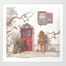 The Red Door Art Print