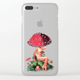 Shroom Girl Clear iPhone Case