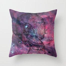 Gorgeous Groovy Galaxy Gal Throw Pillow