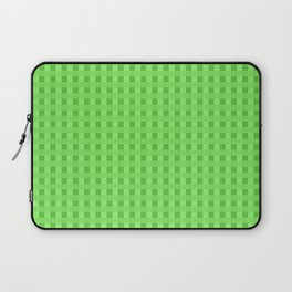 Lime Green Retro Squares Laptop Sleeve