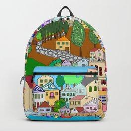 Symi, Greece Backpack