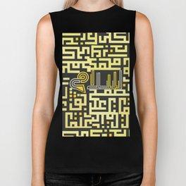 "PEACE ""Arabic font "" maze Biker Tank"