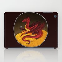 smaug iPad Cases featuring Smaug the Golden by RedWryvenArt