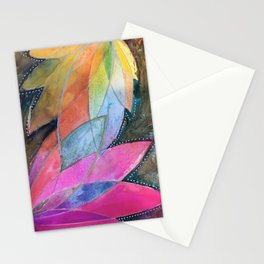 Lotus Dreaming in Pink Stationery Cards
