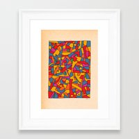 cinema Framed Art Prints featuring - cinema - by Magdalla Del Fresto