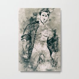 """Mythos: Open Shirt"" Metal Print"