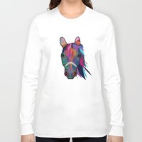 horse Long Sleeve T-shirts featuring horse  by mark ashkenazi