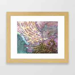 Civilization & Nature by Kaori Hamura Framed Art Print