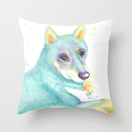 Dexter (The Shiba Inu) Throw Pillow