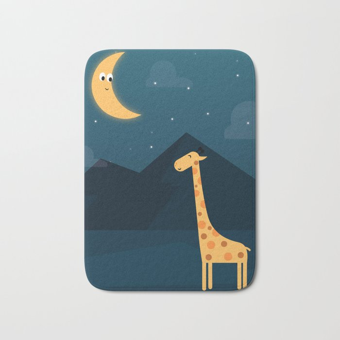 The Giraffe and the Moon Bath Mat