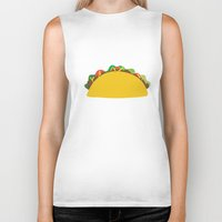 taco Biker Tanks featuring Taco  by Beautiful Artworks