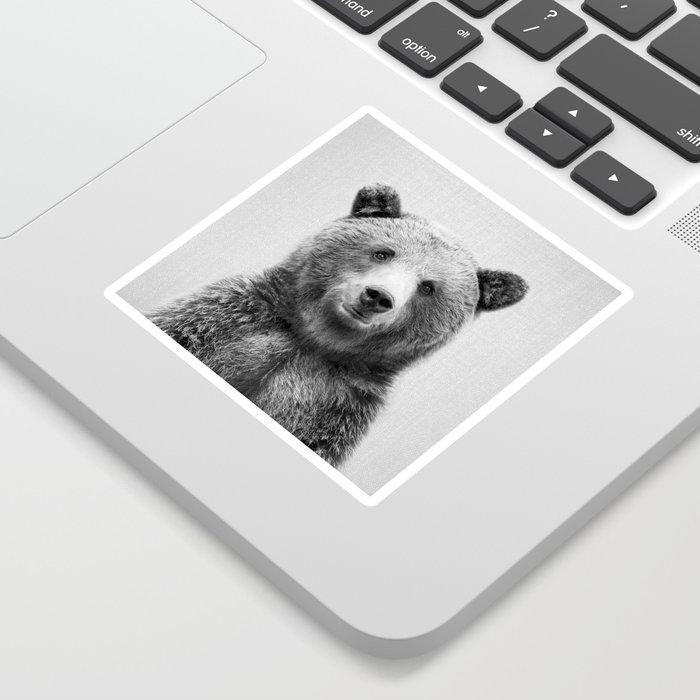 Grizzly Bear - Black & White Sticker