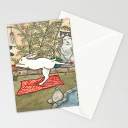 Yoga Bunny Stationery Cards