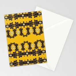 Ornate circulate is festive in  flower decorative Stationery Cards