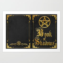 Black Book of Shadows Art Print