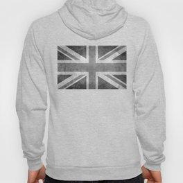 Union Jack Vintage 3:5 Version in grayscale Hoody