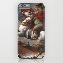 T. Rex Crossing the Alps iPhone Case