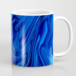 Blue Liquid Marbled texture Coffee Mug