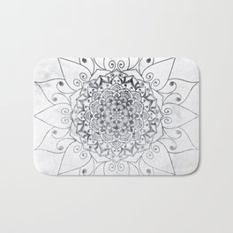 ELEGANT MANDALA IN GRAY Bath Mat
