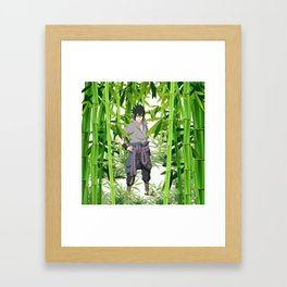 Hero anime 01 Framed Art Print