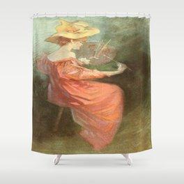 Vintage poster - La Peinture Shower Curtain