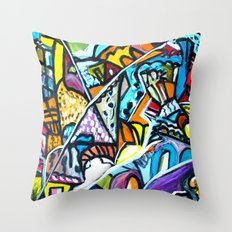 Shirakawago 白川村 Throw Pillow